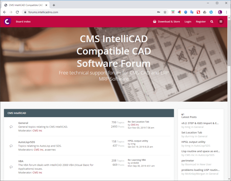 Cms_intellicad_free_support_forum