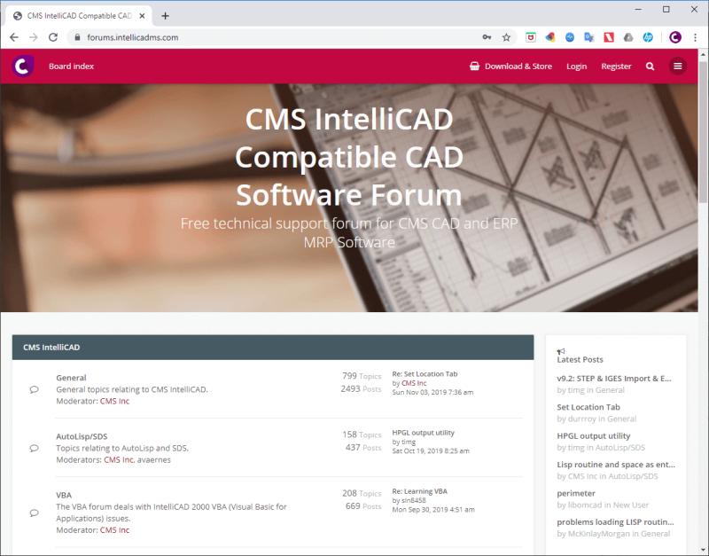 Cms_intellicad_free_support_forum